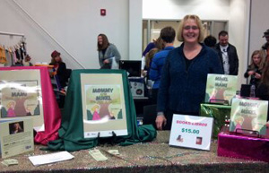 ann morris table at holiday event
