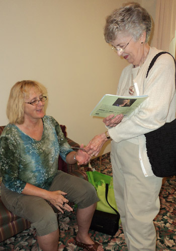 Book reading and signing in Lake Mills, Iowa